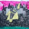2010-Batman-Gotham-City-65x50-Gemengde-Technieken-op-Papier