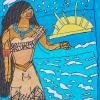 2009-Pocahontas-looks-over-the-sea30x42-Viltstift-op-Papier