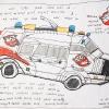 Ghostbusters-Ectomobile-42x30-Gemengde-Technieken-op-Papier