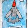 Thunderbird-1-21x30-Viltstift-en-Kleurpotlood-op-Papier