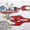 Thunderbird-5-en-3-42x30-Gemengde-Technieken-op-Papier