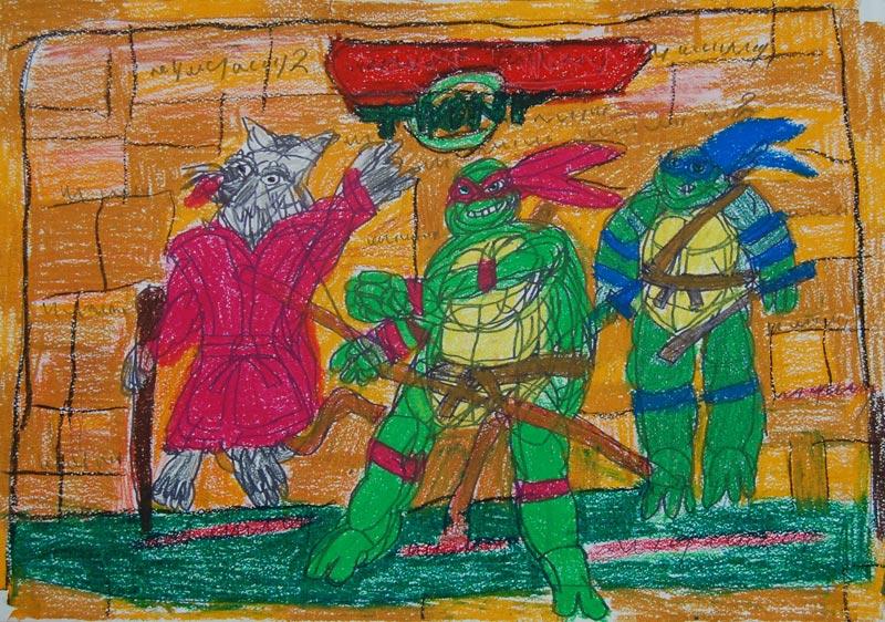 Turtles-Meester-Splinter-Raphael-en-Leonardo